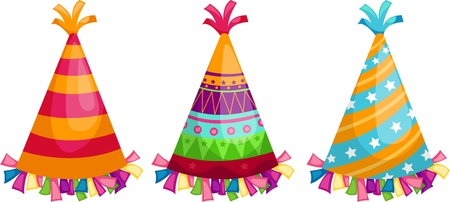 Party hat isolated vector illustration