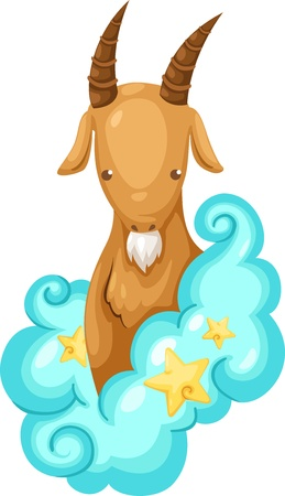Zodiac signs -Capricorn Illustration