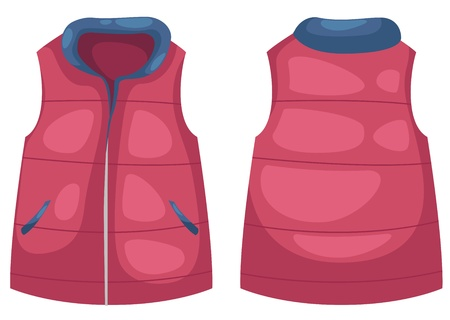 vest vector illustration isolated on white vector
