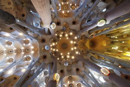 Foto de Sagrada Familia Cathedral Ceiling - Imagen libre de derechos