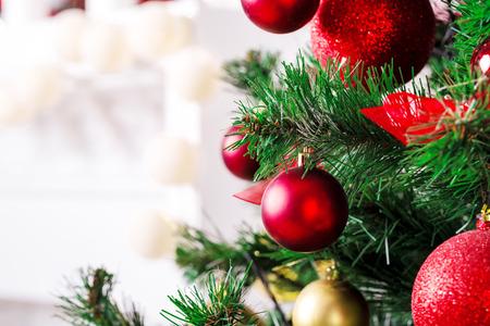 Photo for Christmas living room with Christmas Tree - Royalty Free Image