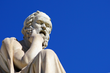 Photo pour Statue of Socrates in front of the University of Athens in Greece - image libre de droit