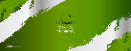 Illustration pour Pakistan Independence day vector illustration, design template, banner or art element. - image libre de droit