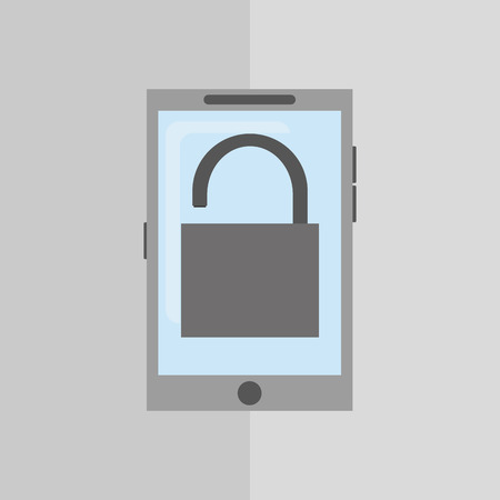 Security concept with icon design