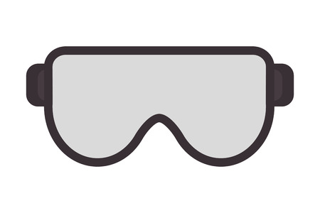 Illustration for flat design safety goggles icon vector illustration - Royalty Free Image