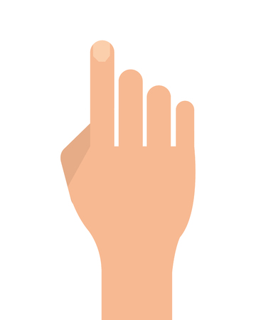 Illustration pour flat design hand with extended index finger icon vector illustration - image libre de droit
