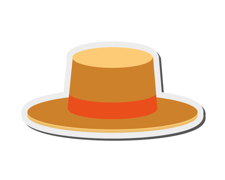 Illustration for flat design summer hat icon vector illustration - Royalty Free Image