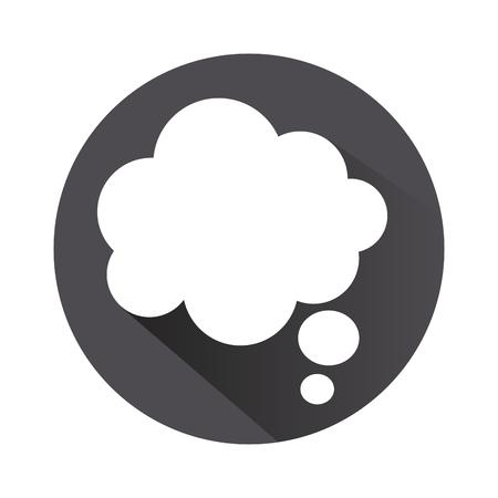 Illustration pour flat design thought bubble icon vector illustration - image libre de droit