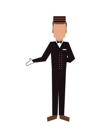Illustration pour flat design bellboy or bellhop icon vector illustration - image libre de droit