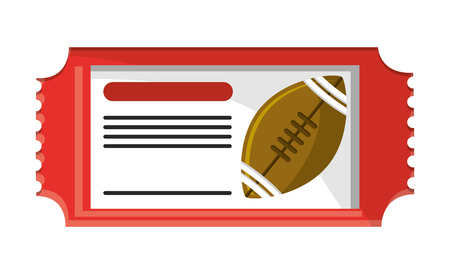 Ticket of american football icon. Sport hobby competition and game theme. Isolated design. Vector illustration