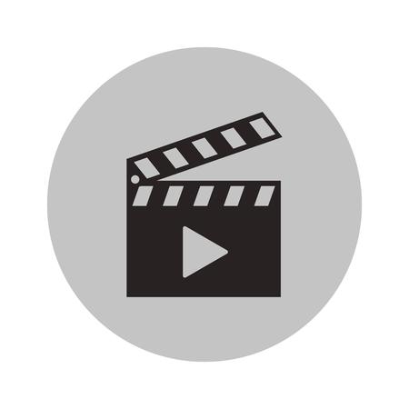 Illustration pour Clapboard icon. Cinema movie video film and media theme. Isolated design. Vector illustration - image libre de droit