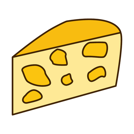 Delicious cheese dairy icon vector illustration graphic