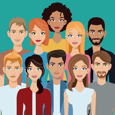 Illustration pour people group team community - image libre de droit