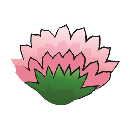 beautiful flower icon over white background. colorful design. vector illustration