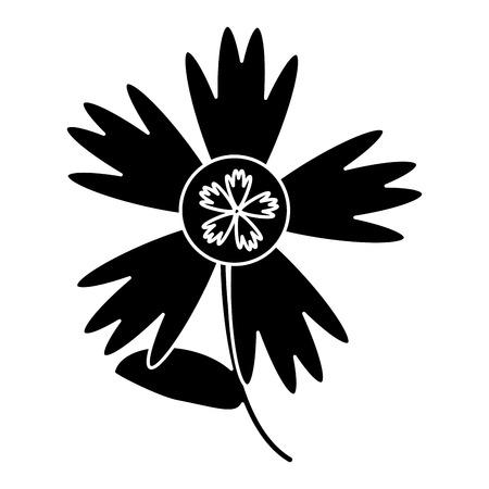 slihouette flower decoration spring vector illustration eps 10