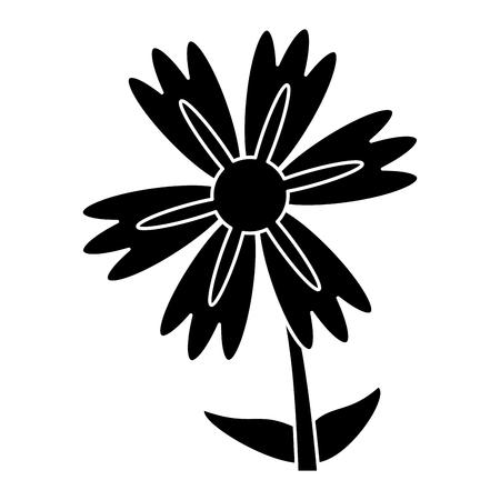 slihouette lily flower natural vector illustration eps 10