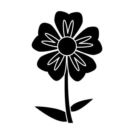 slihouette geranium flower natural vector illustration eps 10