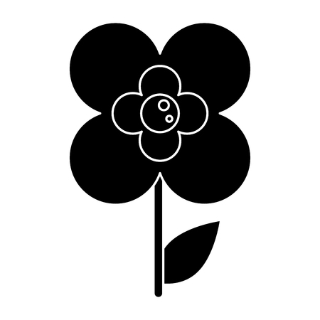 slihouette buttercup flower natural vector illustration eps 10