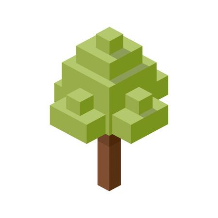 Foto de tree plastic construction block lego. construction puzzle pieces vector illustration - Imagen libre de derechos