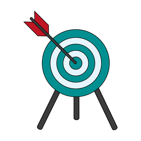 target shooting illustration icon vector design graphics