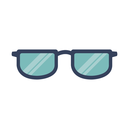 glasses accessory fashion frame object vector illustration