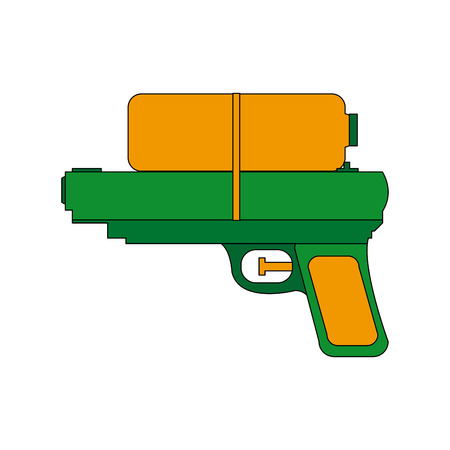 toy water gun plastic play funny icon vector illustration