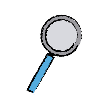 magnifier search loupe discovery find zoom vector illustration
