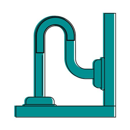 pipe or drain icon image vector illustration design  blue color