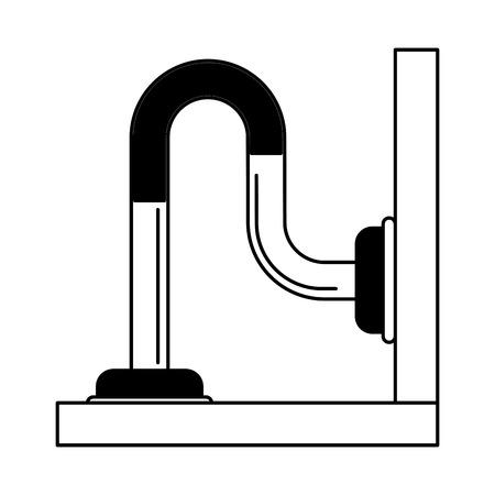 pipe or drain icon image vector illustration design  black and white