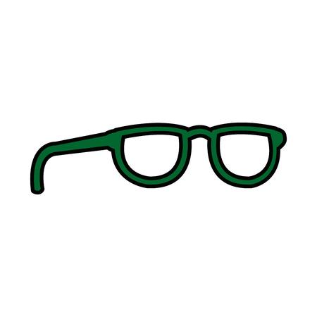 fashion glasses frame accessory icon vector illustration