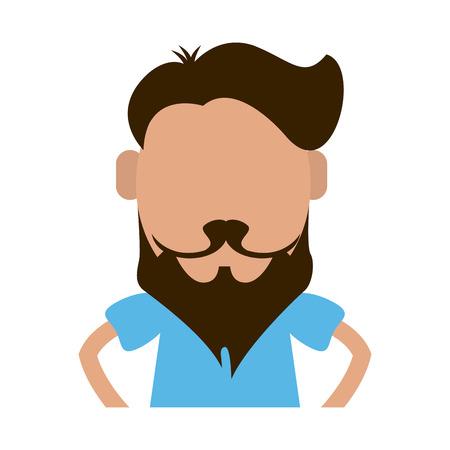 Illustration for hipster man avatar icon image vector illustration design - Royalty Free Image