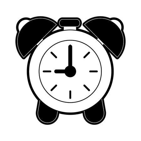 analog alarm clock icon image vector illustration design