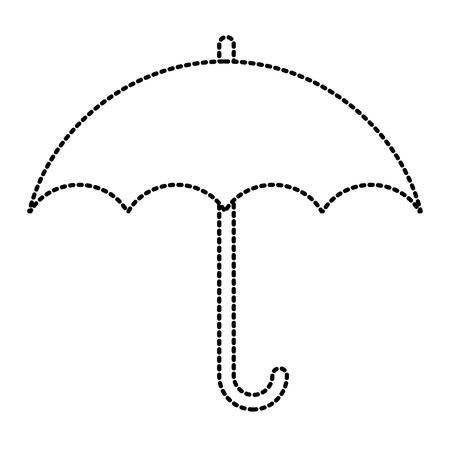 Illustration pour Umbrella protection symbol icon vector illustration graphic design - image libre de droit