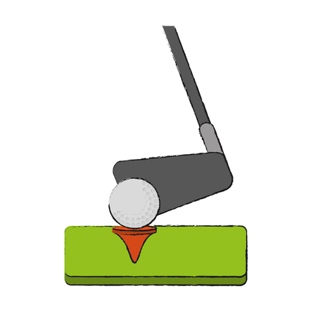 Club and ball golf sport icon vector illustration graphic design