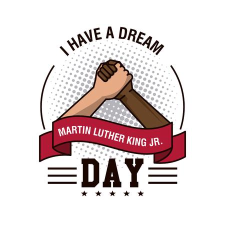 Illustration pour Martin luther king JR day icon vector illustration graphic - image libre de droit