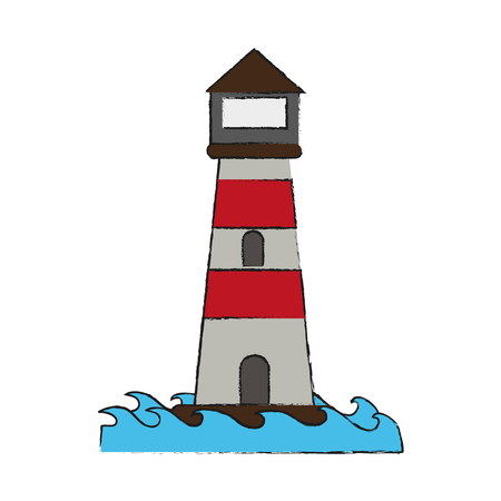 Lighthouse isolated symbol icon vector illustration graphic design