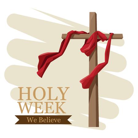 Illustration for Holy week catholic tradition icon vector illustration graphic design - Royalty Free Image