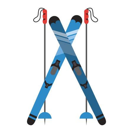 Foto für Snowboard with sticks icon vector illustration graphic design - Lizenzfreies Bild