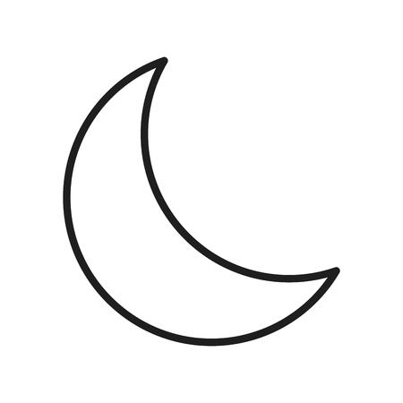 Ilustración de Moon quarter waning - Imagen libre de derechos