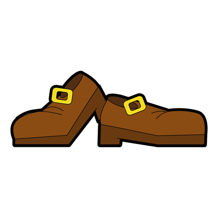 Elf boots symbol icon vector illustration graphic design