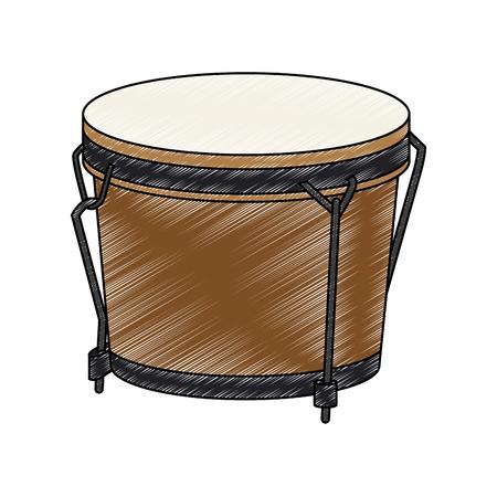 Drum music instrument vector illustration graphic design