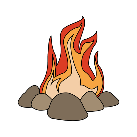 Bonfire cartoon isolated vector illustration graphic design