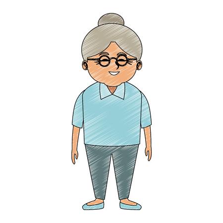 Illustration pour Cute grandmother cartoon vector illustration graphic design - image libre de droit