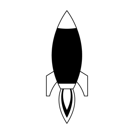 Rocket spaceship symbol vector illustration graphic design