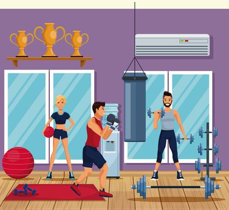 Room gym stock illustrations u  room gym stock illustrations