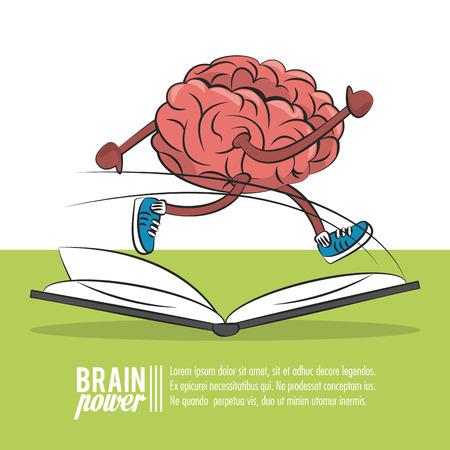 Illustration pour Brain power poster template with information vector illustration graphic design - image libre de droit