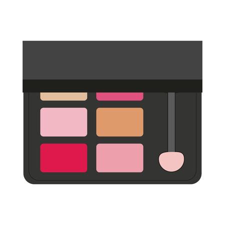 Makeup powder palettes with stick vector illustration graphic design