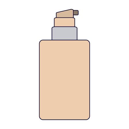 Makeup cream bottle dispenser vector illustration graphic design