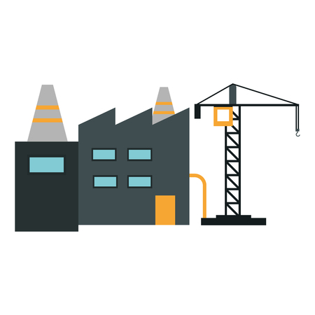 Illustration for Factory and crane industrial zone vector illustration graphic design - Royalty Free Image