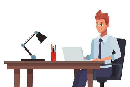 Illustration pour business office businessman vector illustration graphic design - image libre de droit